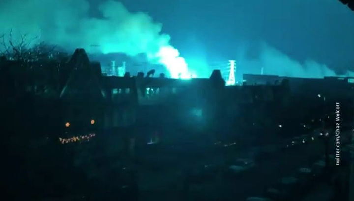 Зарево над Нью-Йорком вызвал взрыв, а не инопланетяне