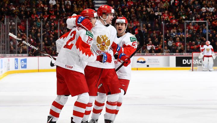 Российская молодежка одержала волевую победу над хоккеистами из Швейцарии