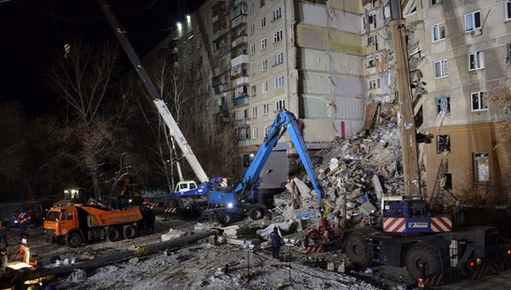Обрушение подъезда в Магнитогорске: следов взрывчатки на фрагментах завала не найдено