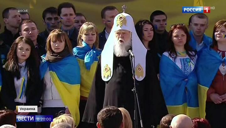 Филарет мечется от Порошенко к Тимошенко в надежде сохранить статус патриарха