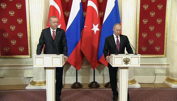 В Москве сегодня пройдут переговоры Владимира Путина и Реджепа Эрдогана