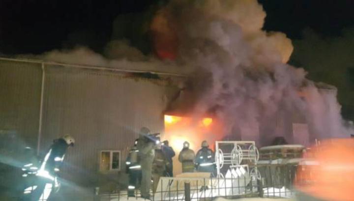 Пожар на территории завода металлоконструкций в Екатеринбурге локализован