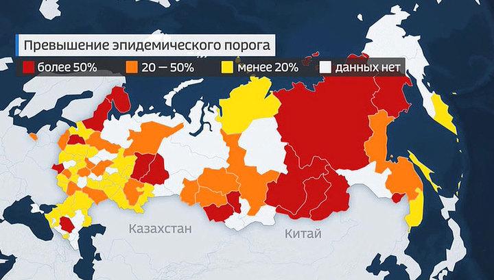 В России растет число заболевших гриппом