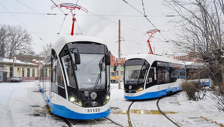На московские дороги выйдет первый в России беспилотный трамвай