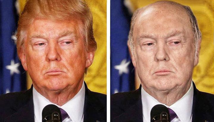 Появилось фото лысого и бледного Трампа