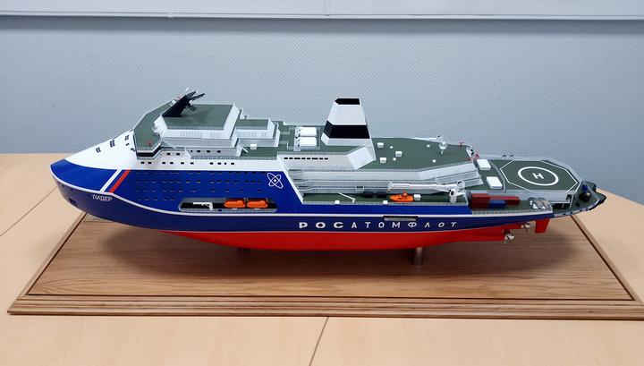Строительство новейшего российского атомного ледокола запустят в марте 2019 года