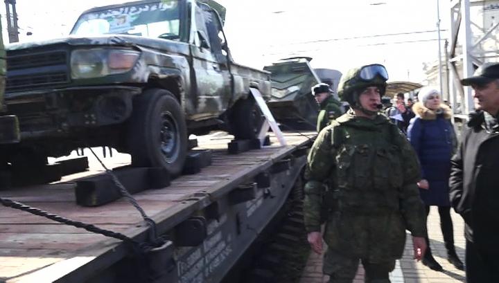 """В Краснодар прибыл поезд-выставка """"Сирийский перелом"""""""
