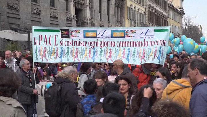 В Милане более 200 человек вышли на демонстрацию против расизма
