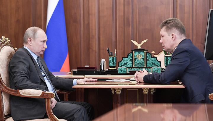 Путин - Миллеру: необходимо ускорить темпы газификации в стране
