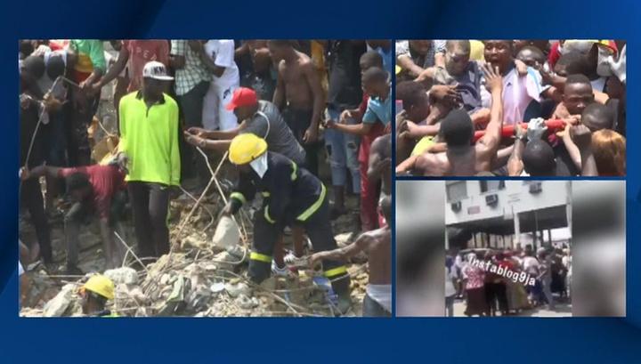 Из-под руин школы в Нигерии спасли 22 человека и извлекли четыре тела