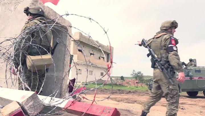 Российские и сирийские военные контролируют перемирие на Голанских высотах