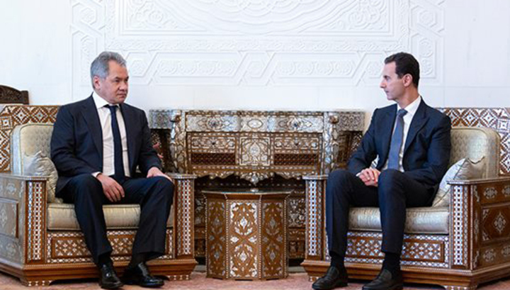 Шойгу во время визита в Дамаск передал Асаду послание от Путина