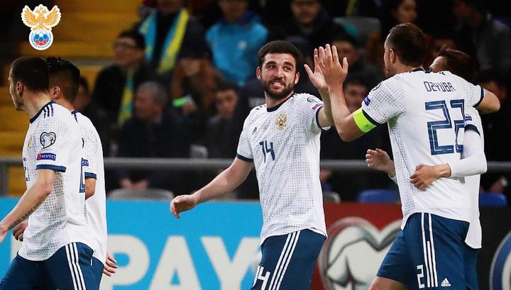 Сборная России сокрушила Казахстан в отборе Евро-2020