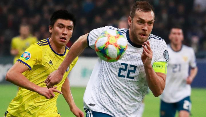 Разгром сборной Казахстана дал футболистам России шанс продвинуться вперед