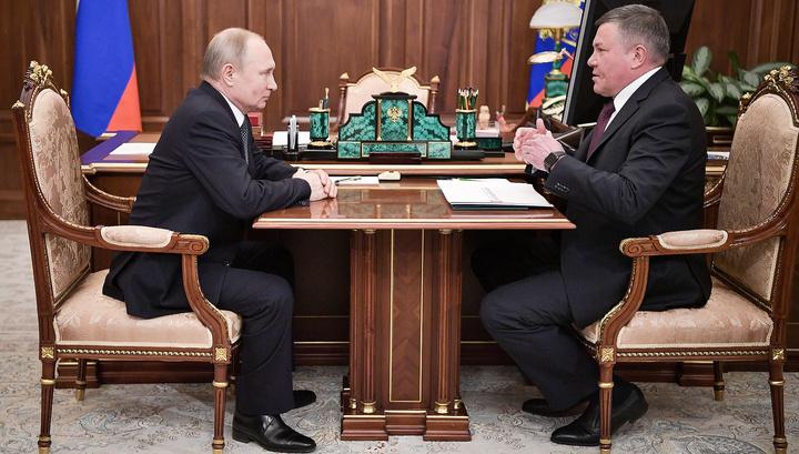 Путин поддержал кандидатуру Кувшинникова