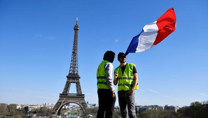 """Очередной протест """"желтых жилетов"""" в Париже обернулся арестами"""