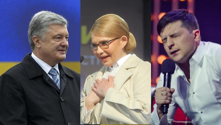 Выборы президента Украины: в лидерах вновь Зеленский и Порошенко