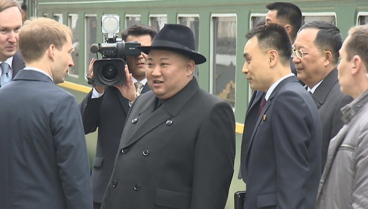 Глава КНДР прибыл во Владивосток