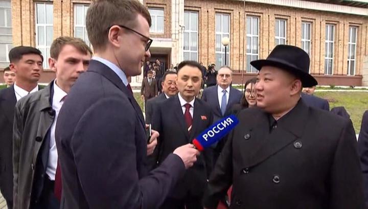 Павел Зарубин задал вопрос Ким Чен Ыну на корейском языке