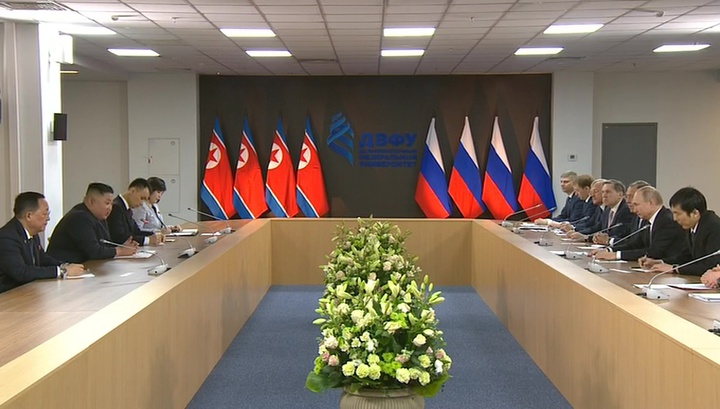 Путин и Ким проговорили в два раза дольше запланированного