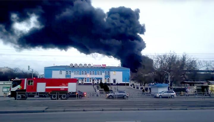 В Красноярске горит завод ракетно-космической техники