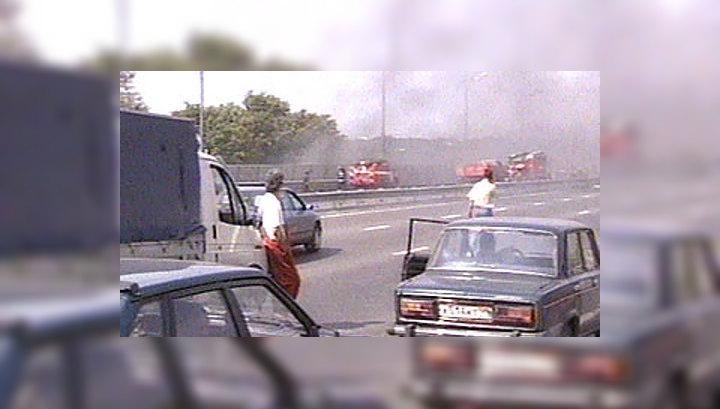 На участке третьего транспортного кольца Москвы, где 2 августа произошел пожар, восстановлено движение