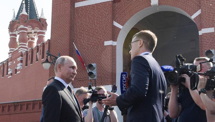 Путин в эксклюзивном интервью ВГТРК назвал прошедший Парад Победы замечательным