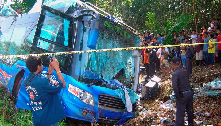 В Таиланде разбился автобус, перевозивший студентов
