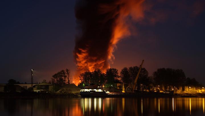 Крупный пожар в Ленинградской области локализован