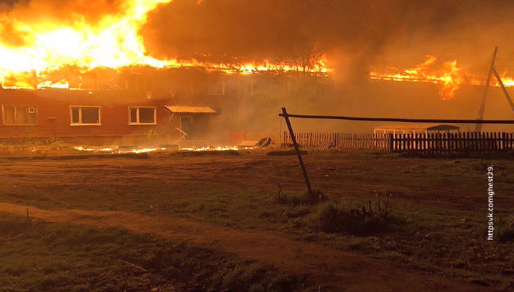 Пожар на Кегострове в Архангельске: есть погибшие и пострадавшие