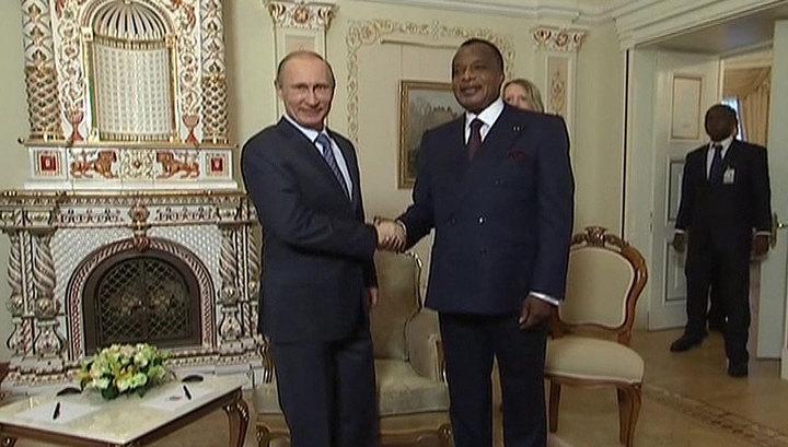 Владимир Путин сегодня встретится с президентом Республики Конго