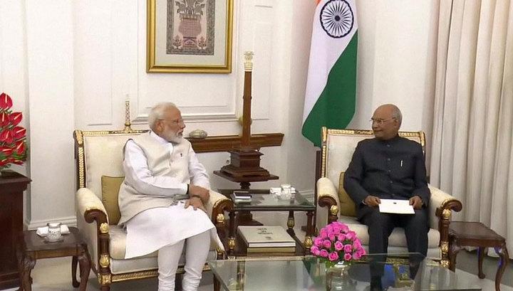 Нарендра Моди вновь занял должность премьер-министра Индии