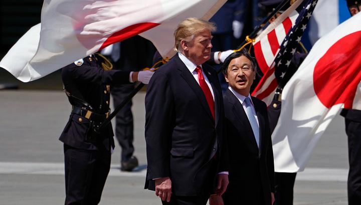 Президент США первым из мировых политиков встретился с новым японским монархом