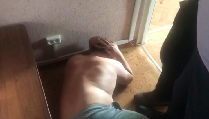 Задержание подозреваемых в убийстве спецназовца ГРУ сняли на видео
