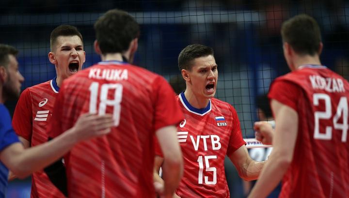 Волейболисты сборной России одержали пятую победу кряду в Лиге наций