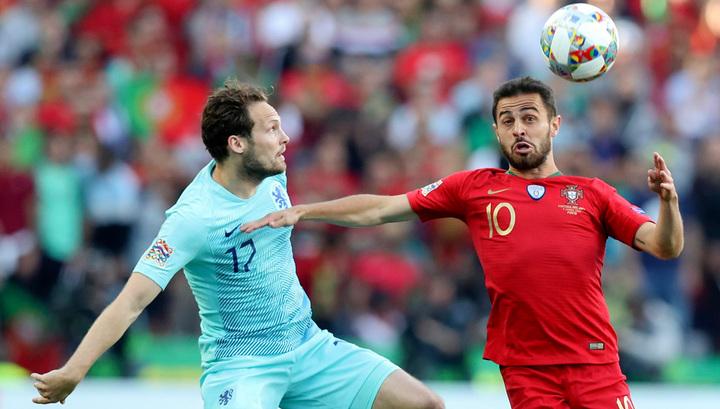 Сборная Португалии выиграла у голландцев первый в истории финал Лиги наций