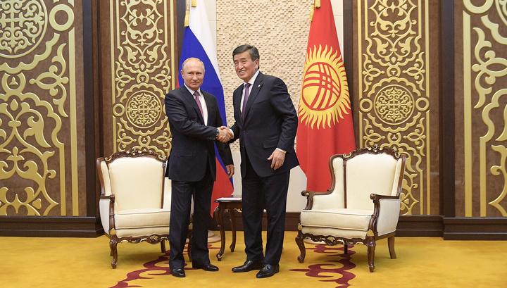 Президент России встретился в Бишкеке с главами Киргизии и Индии