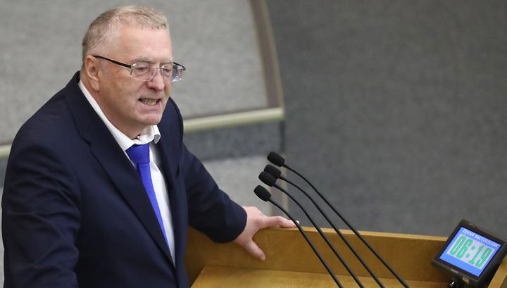 Жириновский покинул заседание Госдумы из-за отказа принять его законопроект