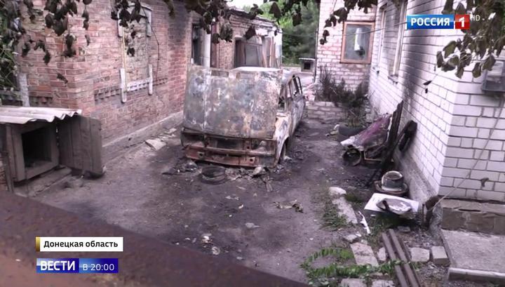 Журналистов ВГТРК под Донецком обстреляли во время съемки результатов предыдущих обстрелов