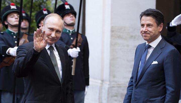 Владимир Путин завершил визит в Италию