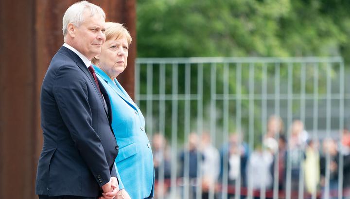 Меркель затрясло в третий раз на встрече с премьер-министром Финляндии