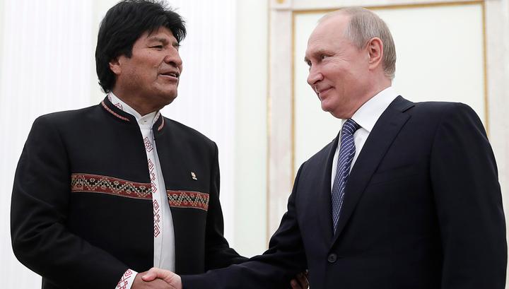 Боливии - вертолеты, России - мясо