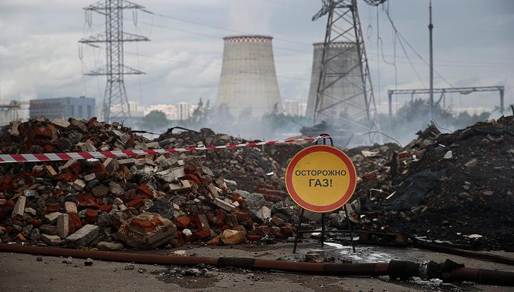 Пожар на ТЭЦ-27  в Мытищах ликвидирован полностью
