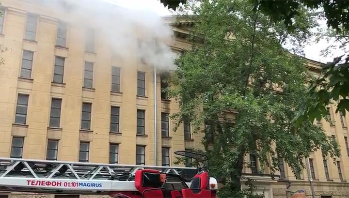 Задымился после рабочих: эвакуирован Российский государственный архив литературы и искусства