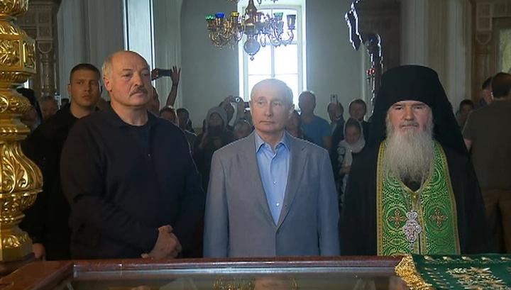 Путин и Лукашенко побывали на службе в Валаамском монастыре
