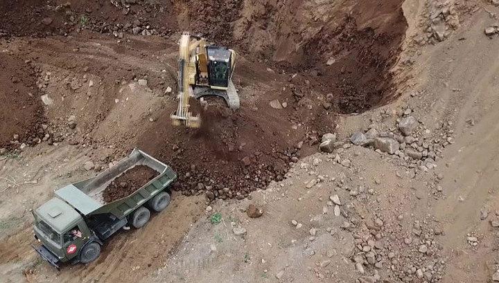 В Тулуне военные восстановили поврежденные паводком дороги