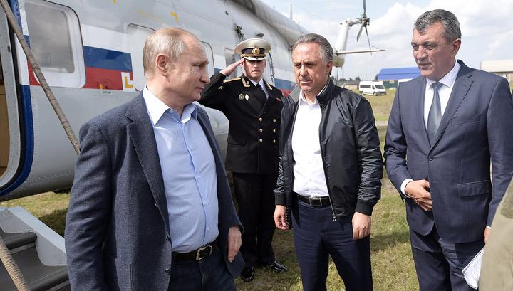 Мутко доложил Путину о происходящем в Иркутской области