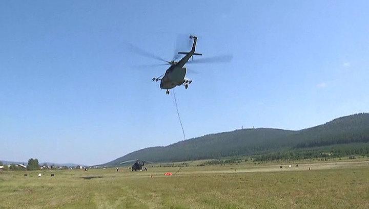 Армейская авиация потушила все назначенные очаги пожаров в Красноярском крае