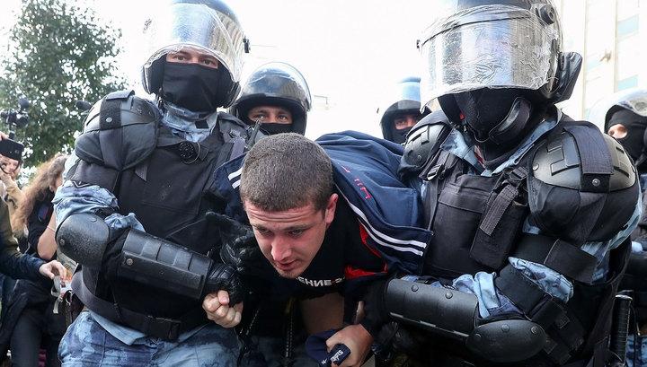 Несанкционированная акция в Москве: задержаны 600 участников из 1500