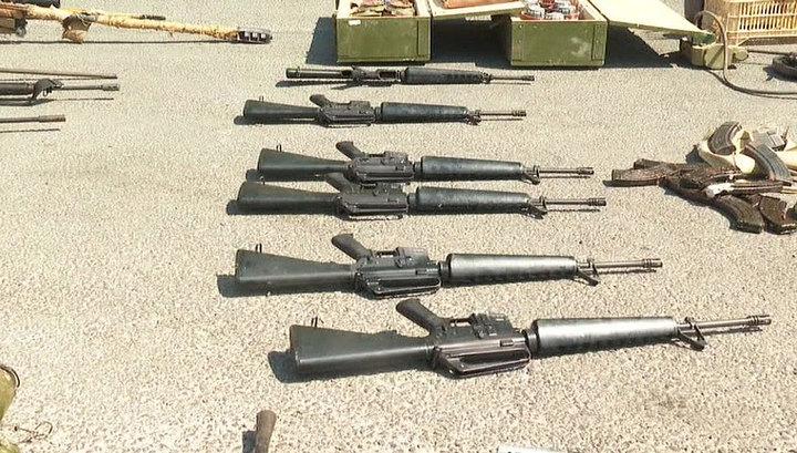 На юге Сирии обнаружен склад боевиков с оружием американского производства